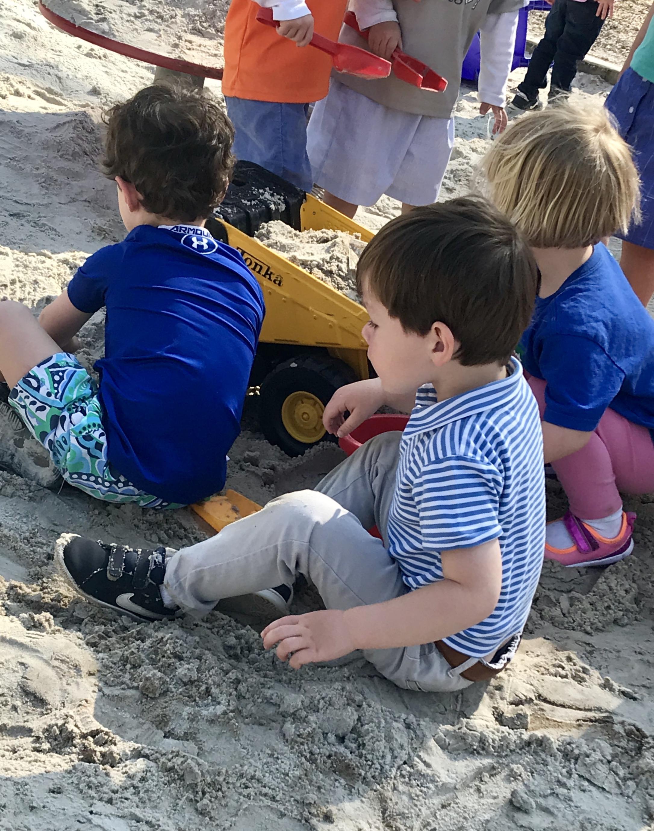 Fun in the sand.