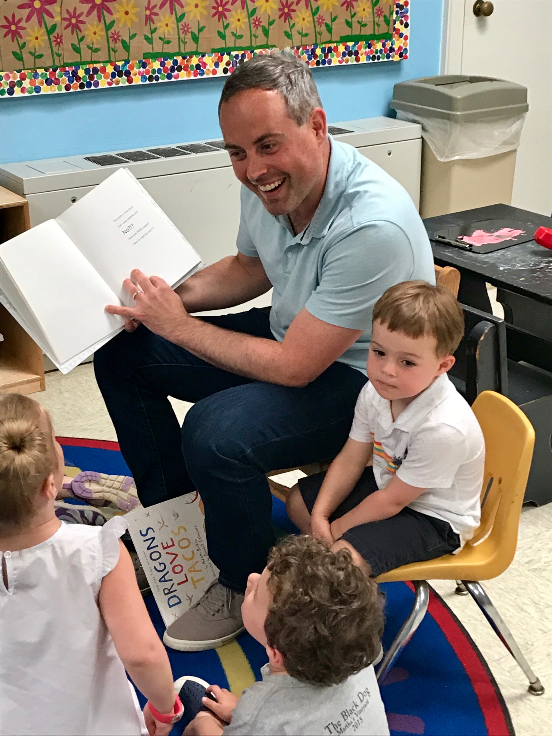Thank you to Graham's dad for being our Mystery Reader this week!