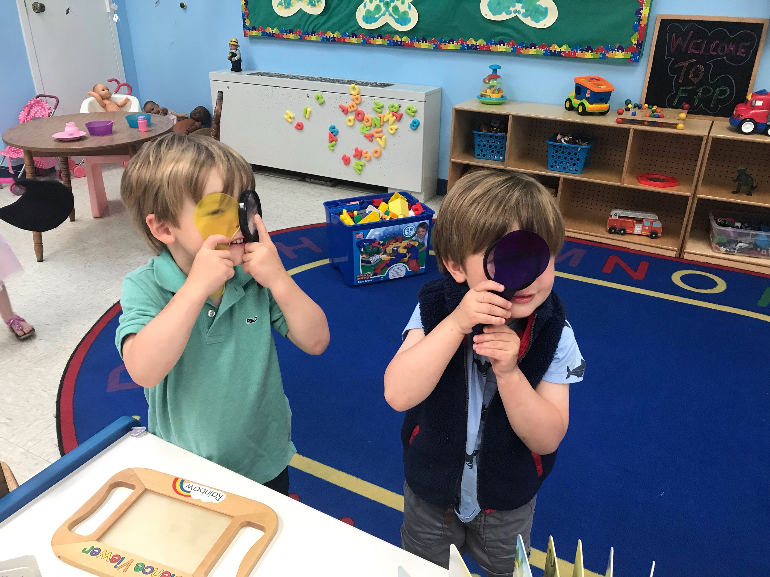 """We have been looking through all types of lenses this week - exploring for """"bugs"""" in and around our classroom."""