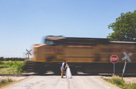 Pretty + Planned Train Car Kiss