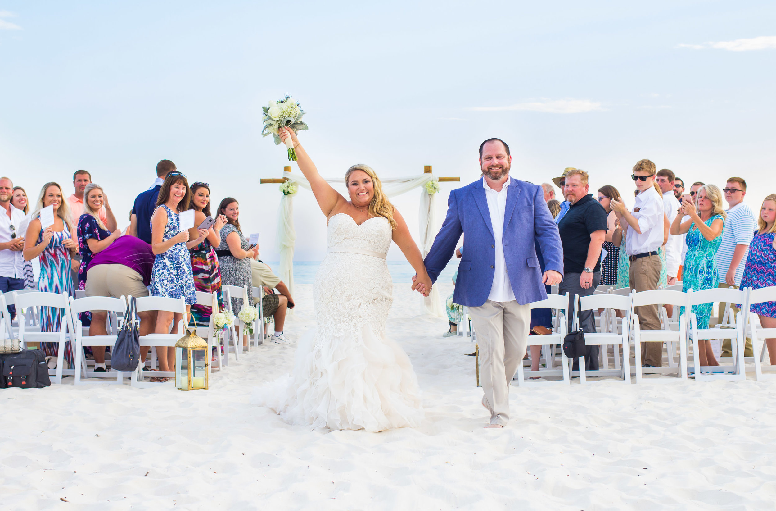 Plus Size Bride Beach Wedding