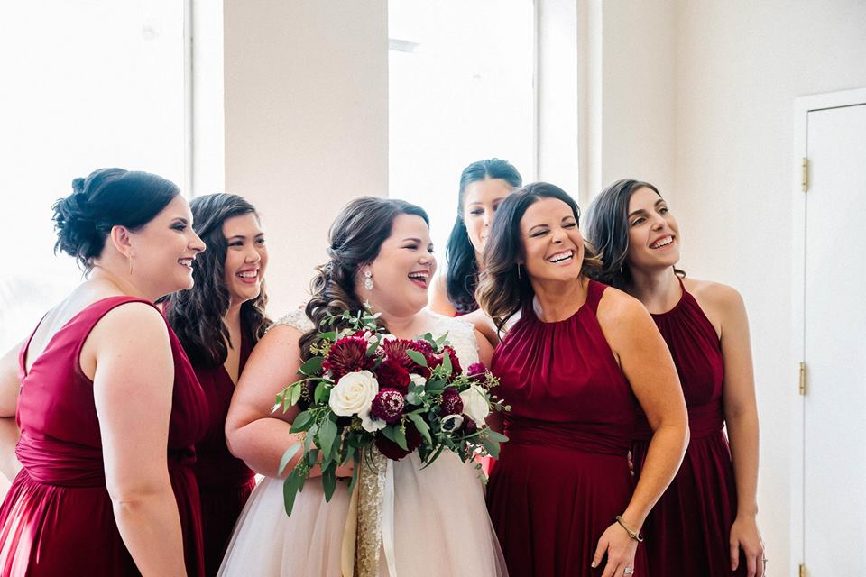 Plus Size Bride and Bridal Party