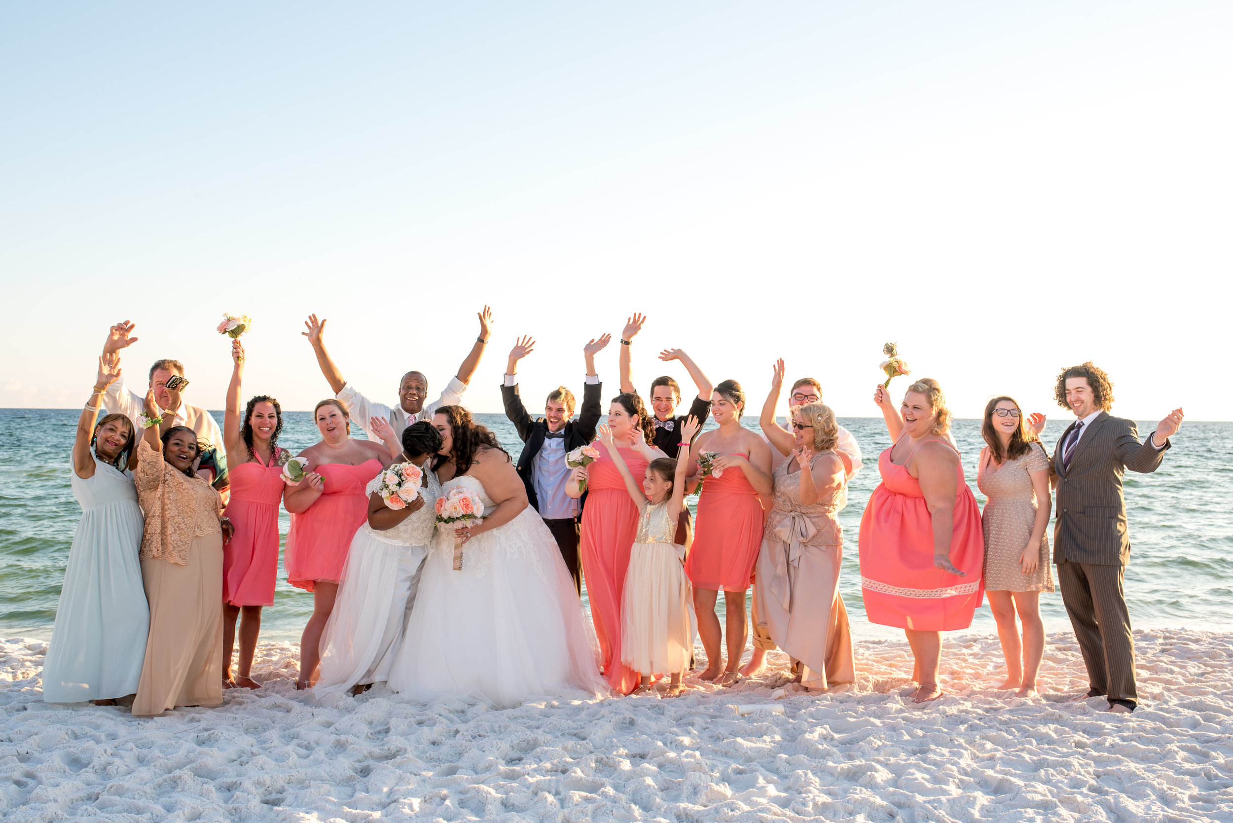 Beach Wedding Party