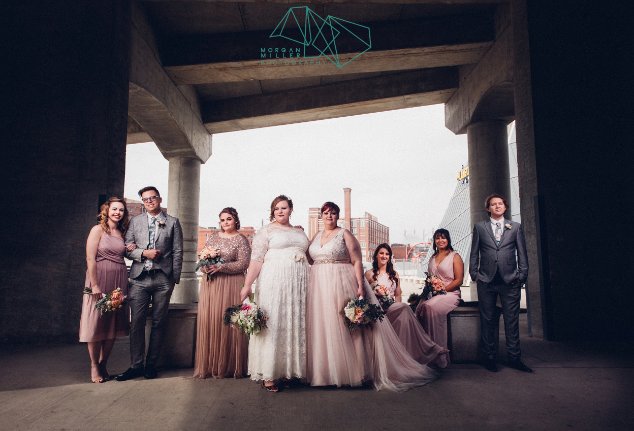 Urban Wedding Party Photos