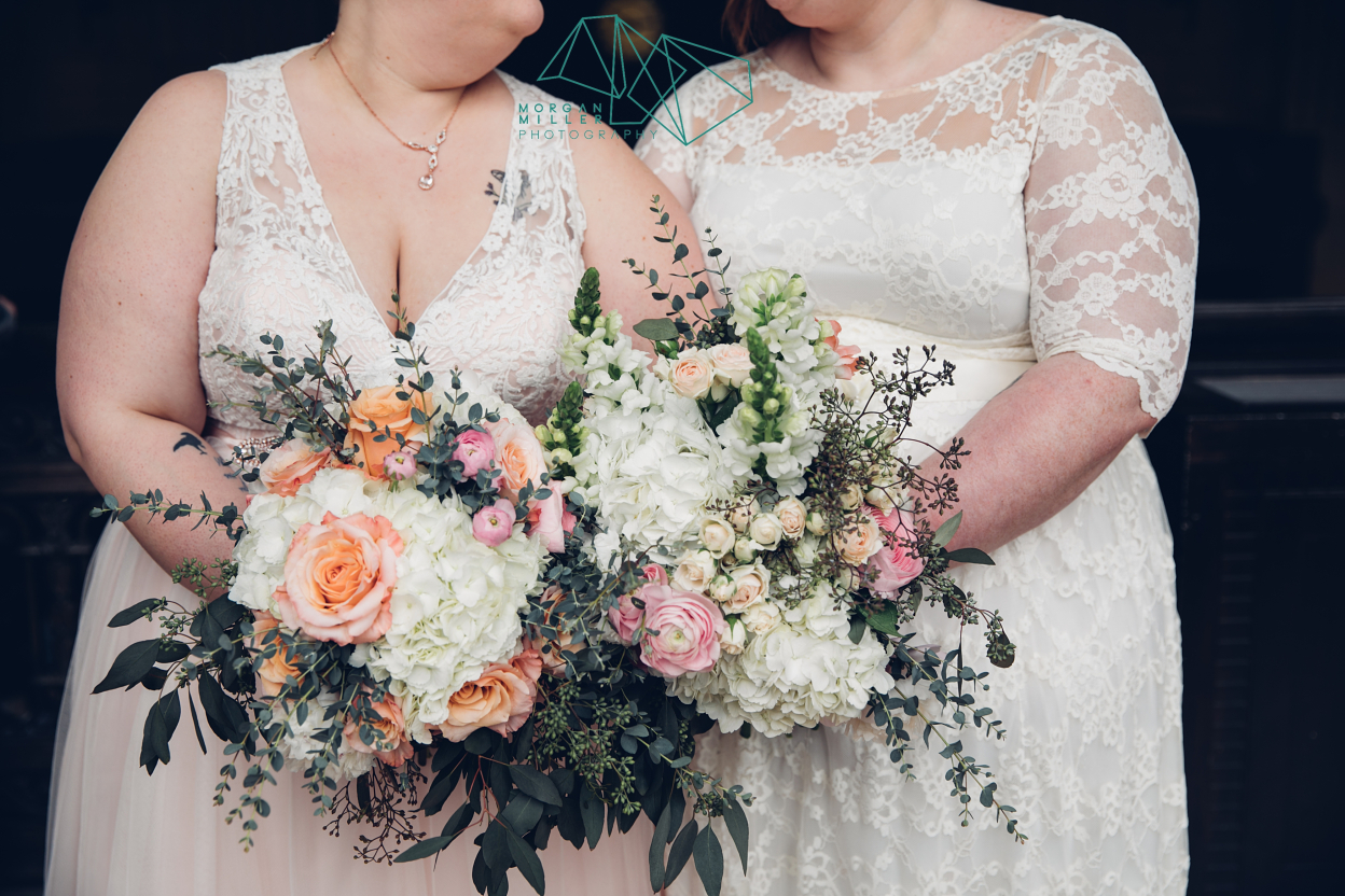Blush Orange and Greenery Wedding Colors