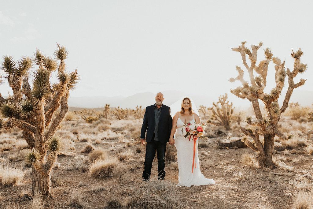 Bride & Groom Wedding Portrait | Desert Wedding