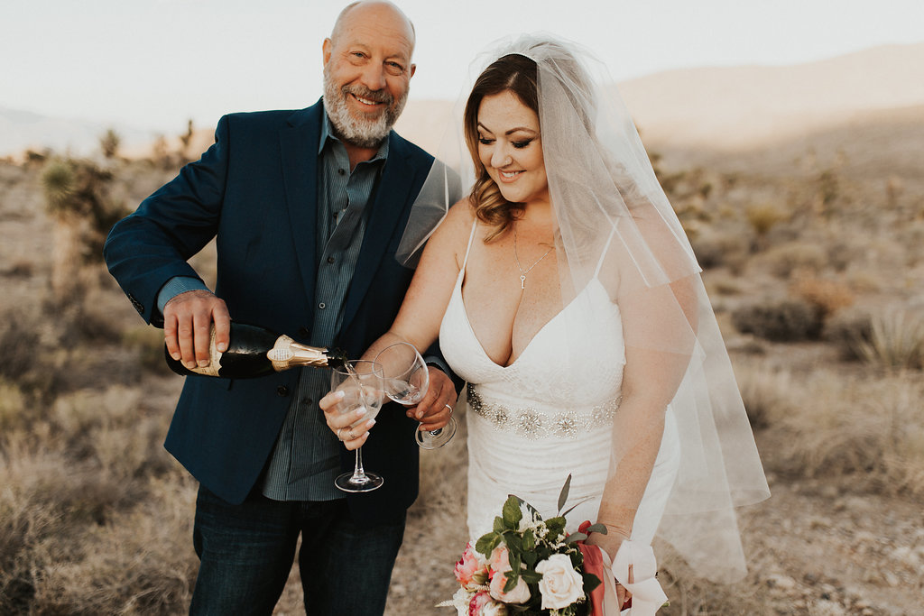 Copy of Champagne Toast | Desert Wedding