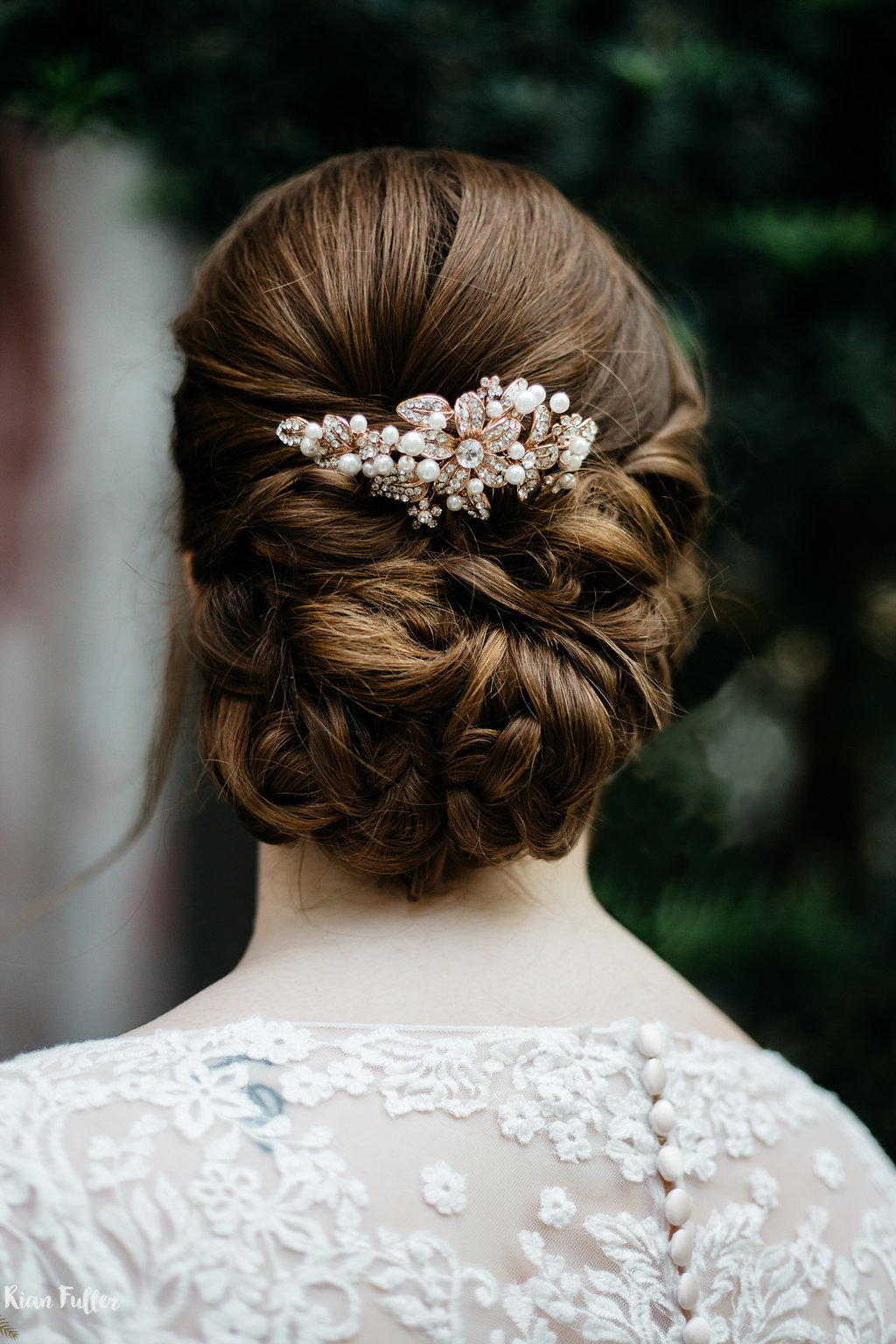 Bel Aire Bridals Hair Piece | Rian Fuller Photography
