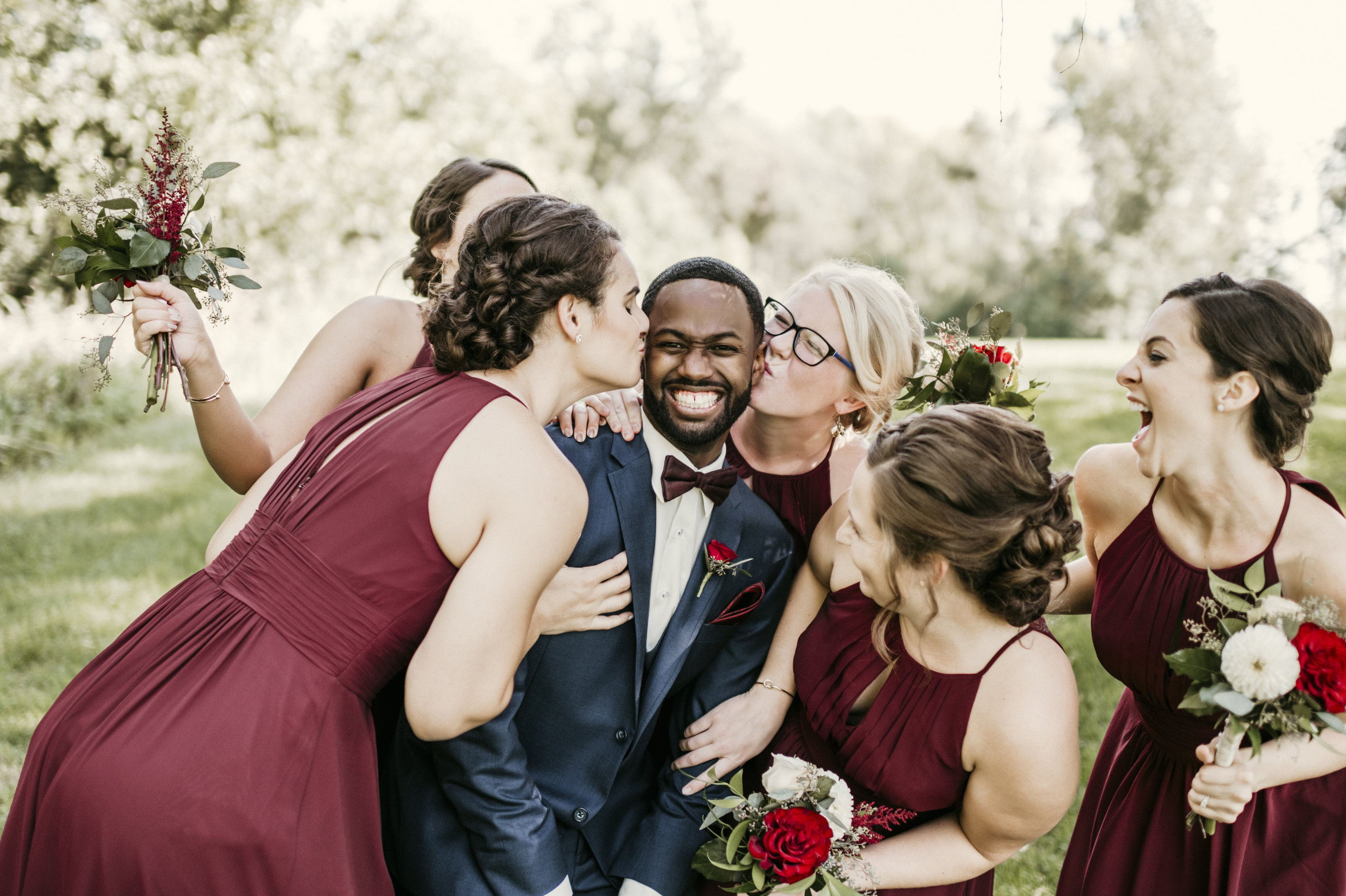Groom & Bridesmaids