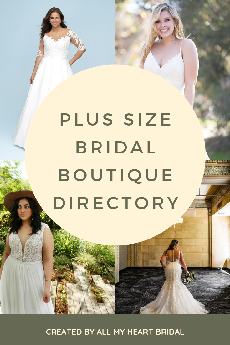 PLUS SIZE BRIDAL BOUTIQUE DIRECTORY FROM ALL MY HEART BRIDAL