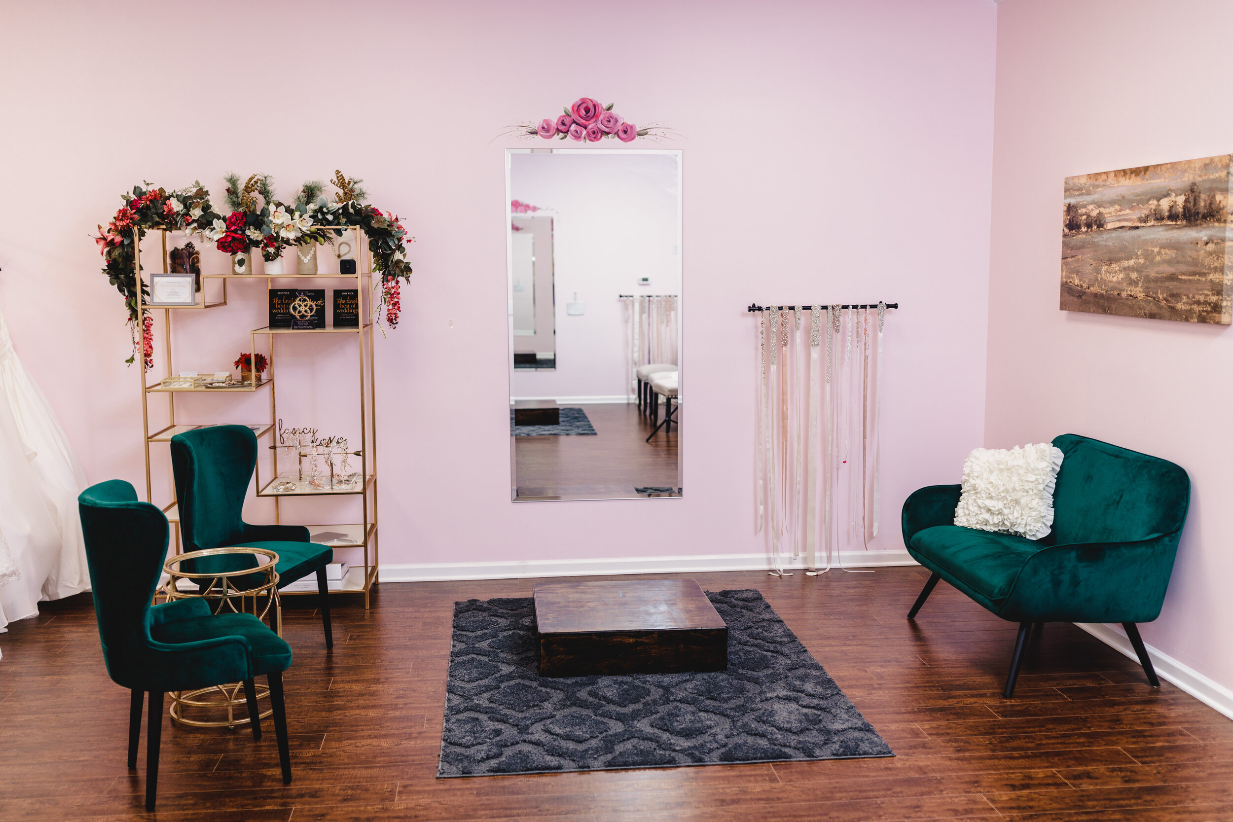 Seating Area at All My Heart Bridal - Kelsey Diane Photography