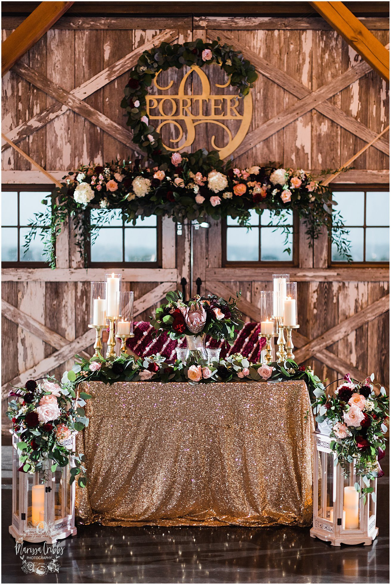 Bride & Groom Table - Marrisa Cribbs Photography