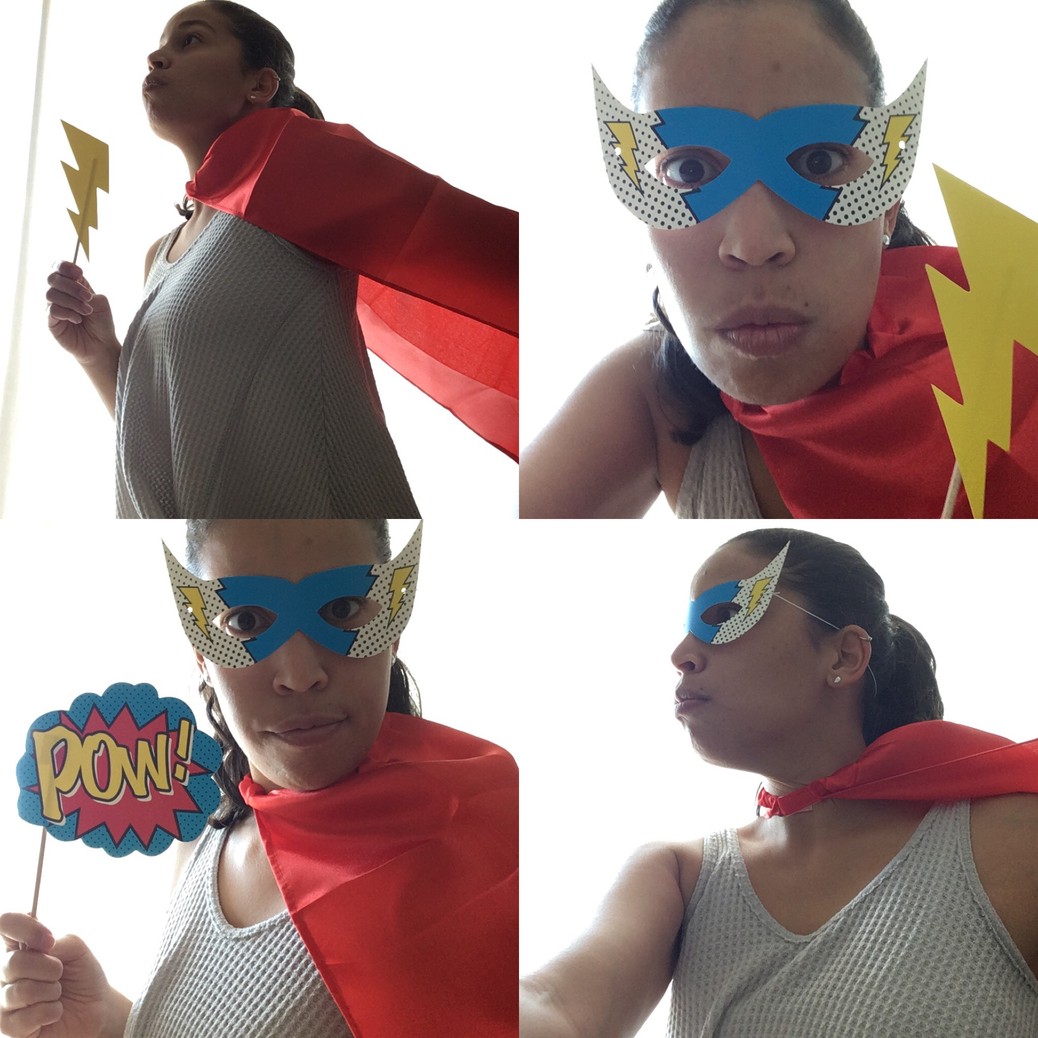 You can strike a pose at the superhero Photo Booth :) Best. Photobooth. Ever!