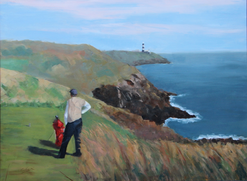 Teeing Off at Old Head-30x40.JPG
