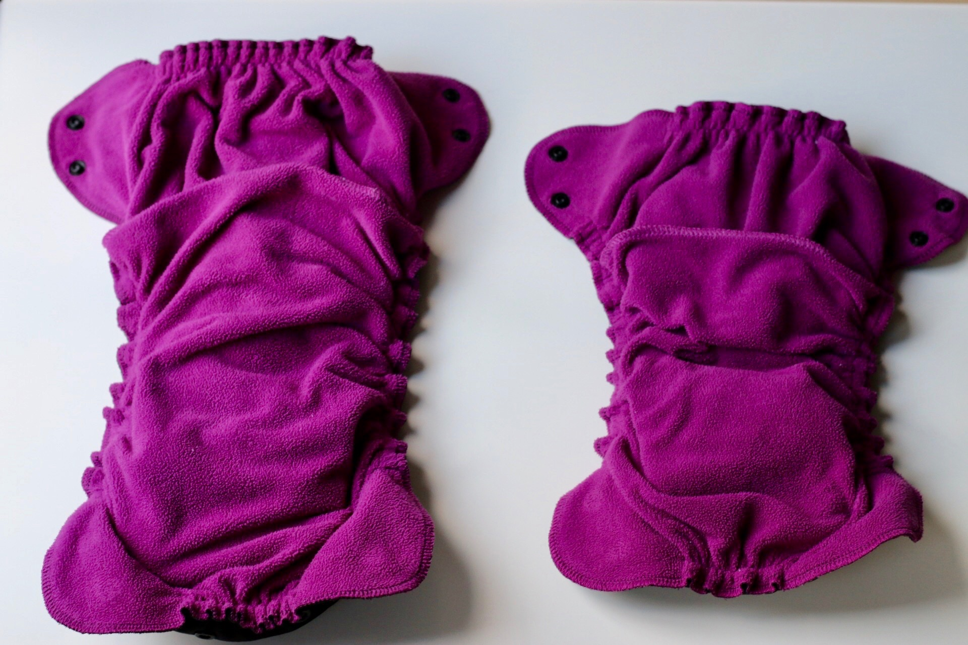 Size two (left), Size one (right)