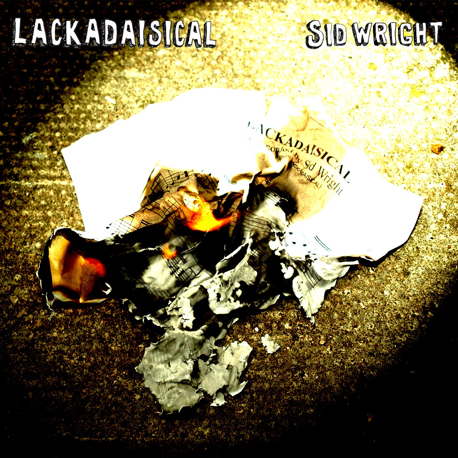 Lackadaisical album cover by Sid Wright sidwright.co.uk