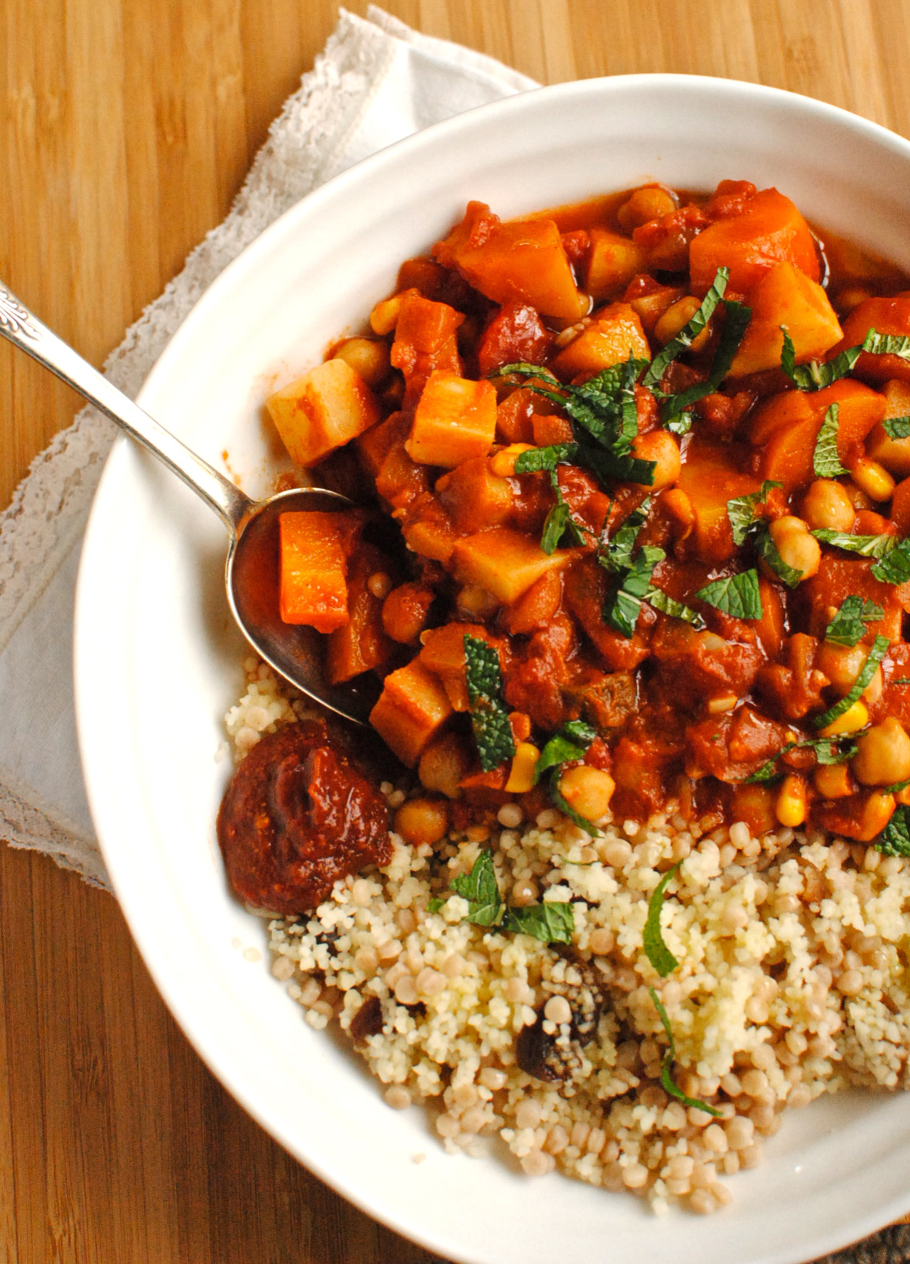 Tunisian Chickpea and Vegetable Tagine