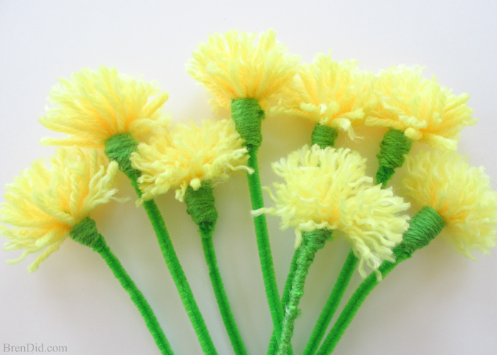 Yarn Dandelions