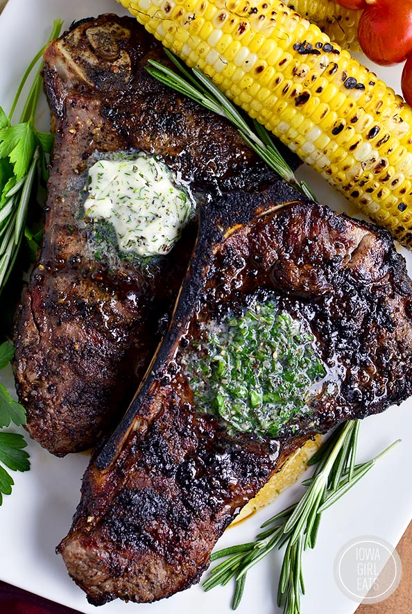 Grilled Steak with Herb Butter