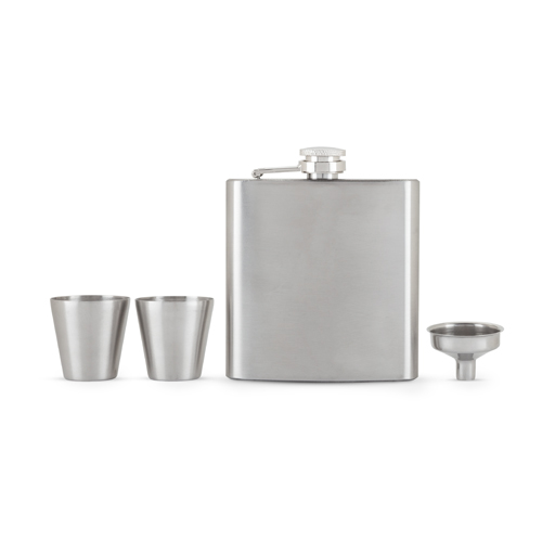TRUE BRANDS: Fiasco Flask And Shot Glass Gift Set by True