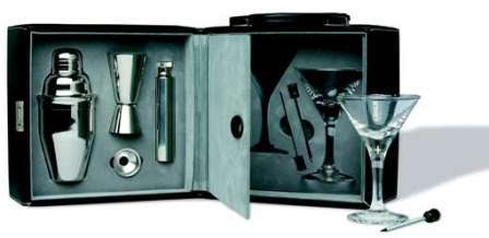 FRANMARA: Martini Bar Set with Case (9 Piece Set)