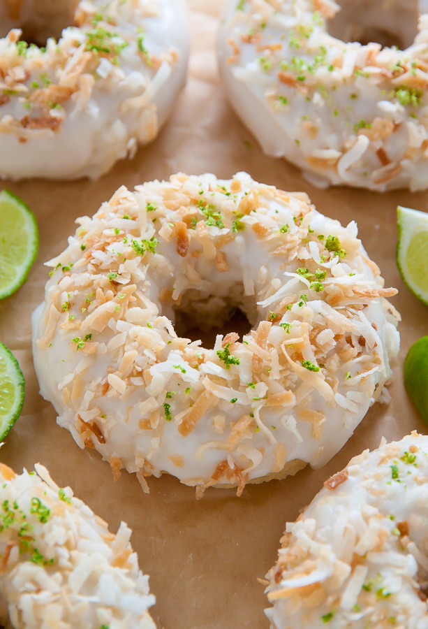 Key Lime Coconut Donuts