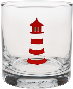 CULVER: 11 oz Old Fashion - Red Lighthouse