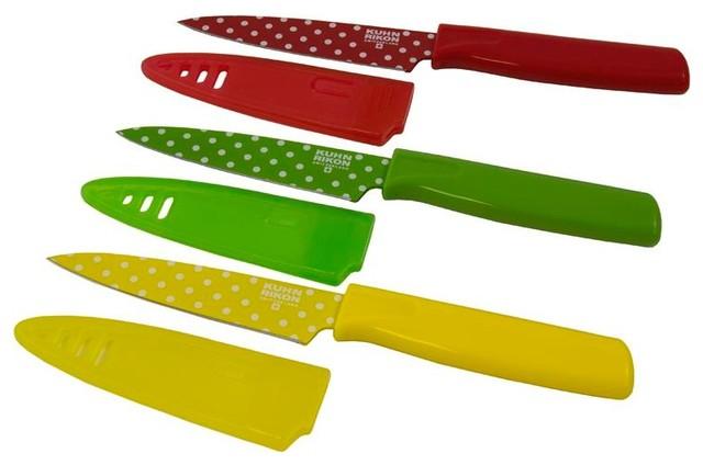 Kuhn Rikon: Polka Dot Paring Knife Set