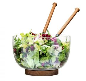 Oval Oak Salad Bowl