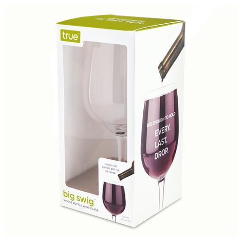 True Brands: Big Swig Full Bottle Wine Glass