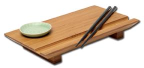 Joyce Chen Bamboo Sushi Board Set