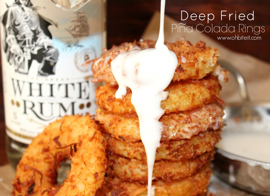 Deep Fried Pina Colada Rings!