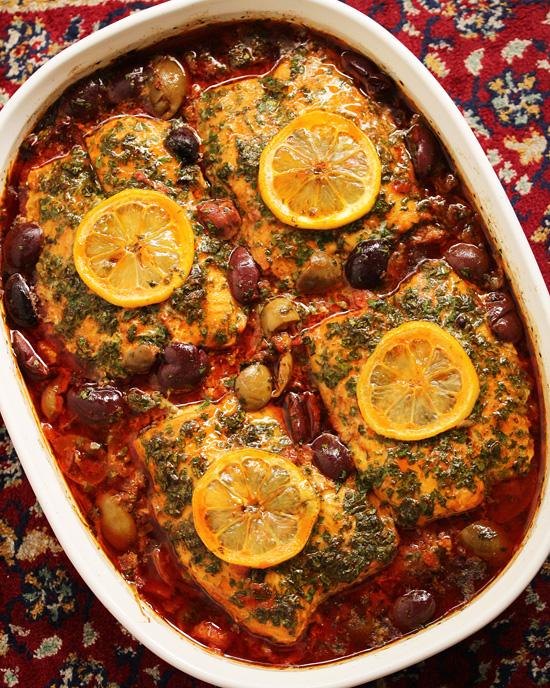 Moroccan Fish Tagine with Ginger & Saffron