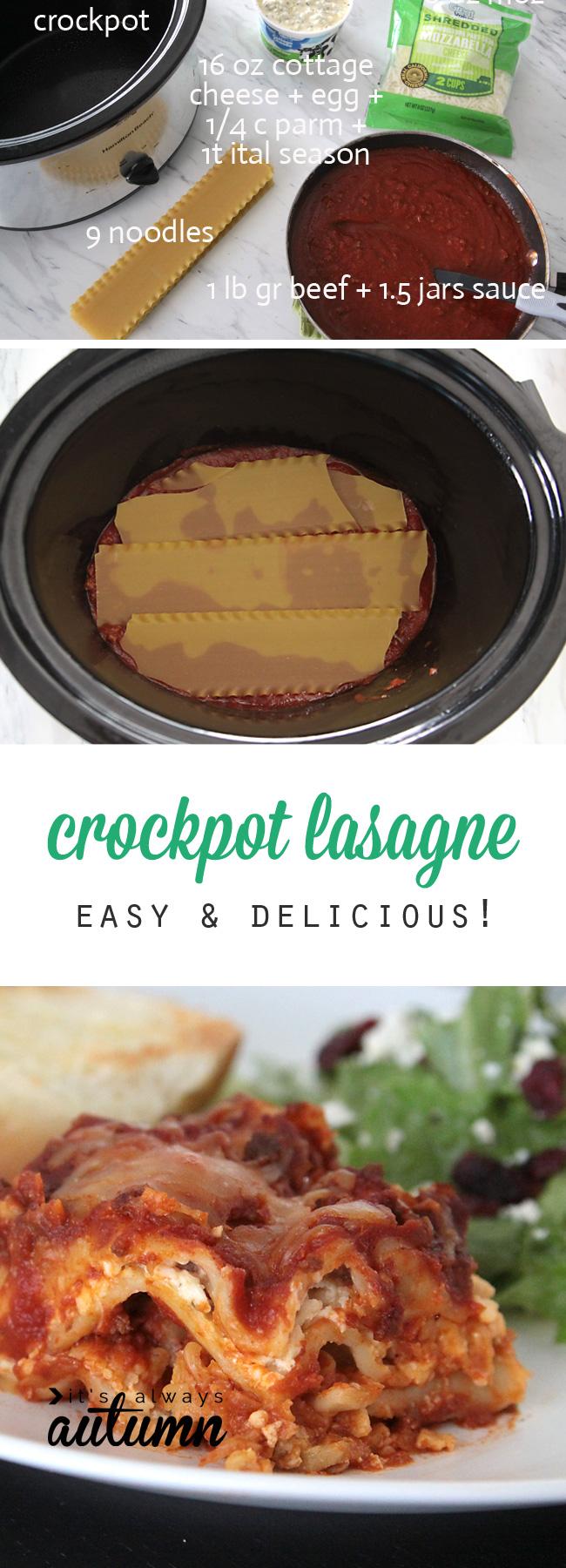 crockpot lasagne recipe