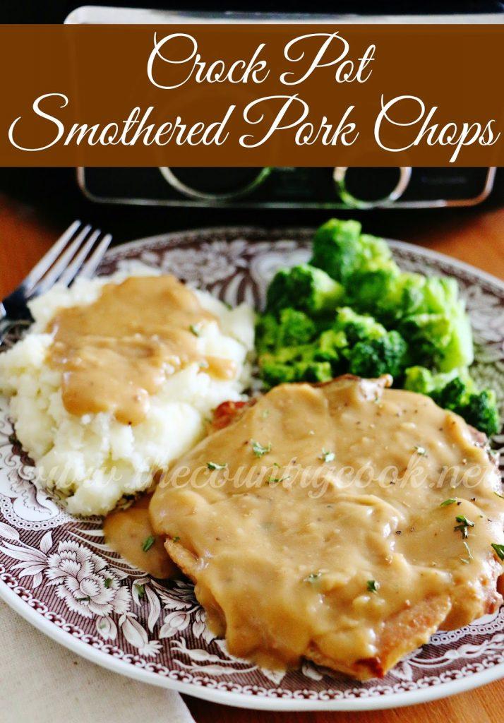 Crock Pot Smothered Pork Chops
