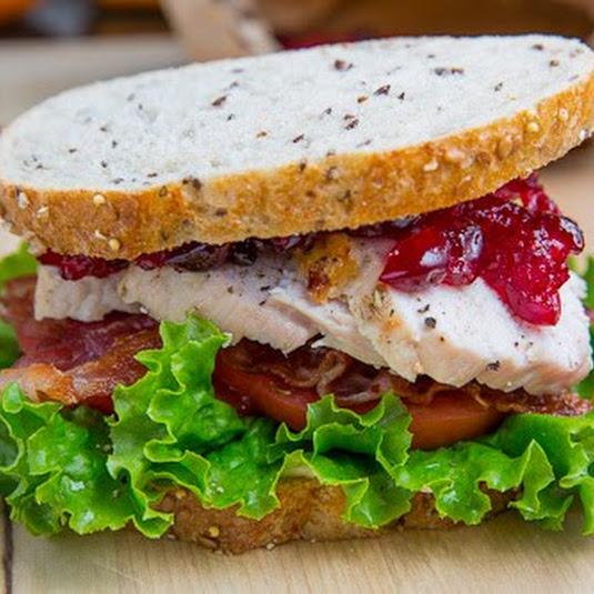 Roast Turkey Club Sandwich with Cranberry Sauce
