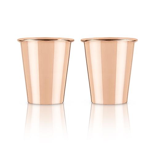 True Brands: Mercer™ Solid Copper Shot Glasses