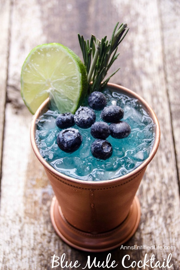 Blue Mule Cocktail