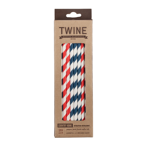 TRUE BRANDS: Country Home™ Striped Straws by Twine