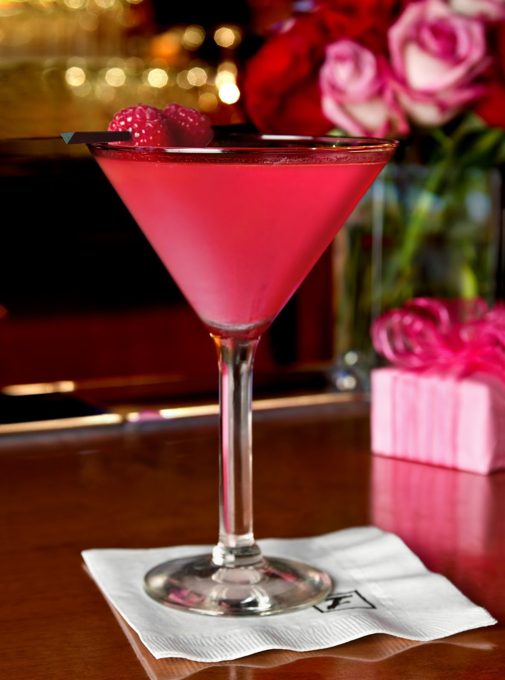 Tickled Pink Valentine's Day Cocktail