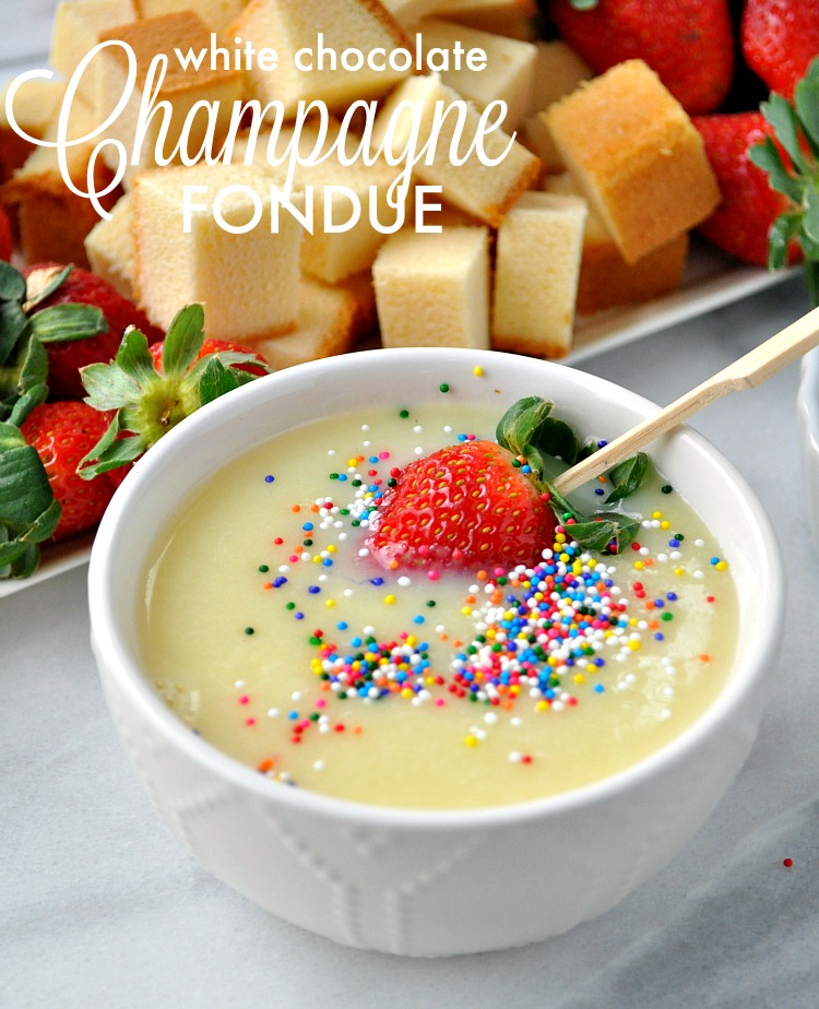 WHITE CHOCOLATE CHAMPAGNE FONDUE