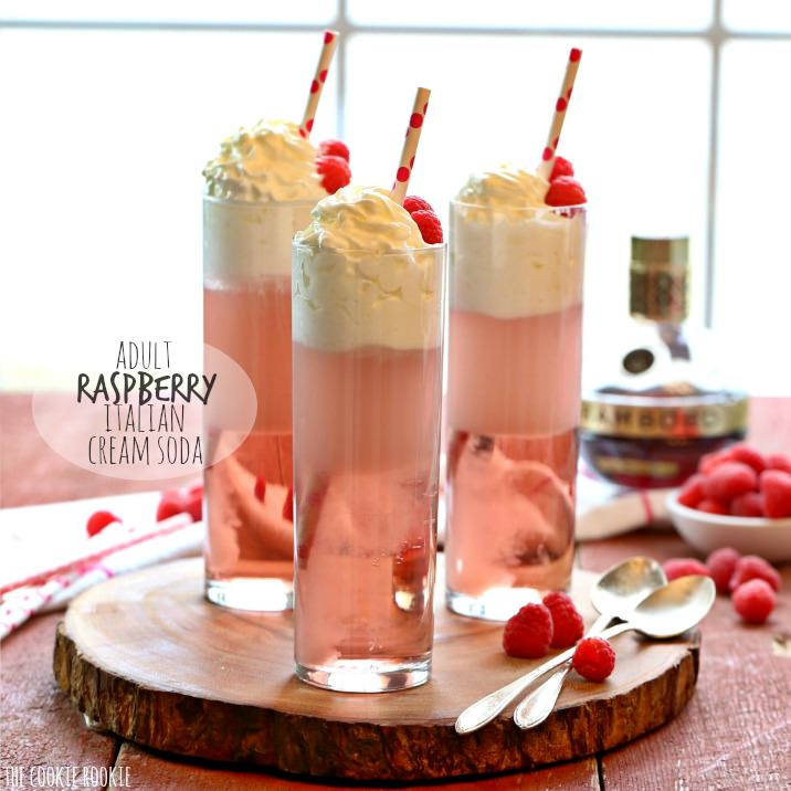 Adult Raspberry Cream Sodas