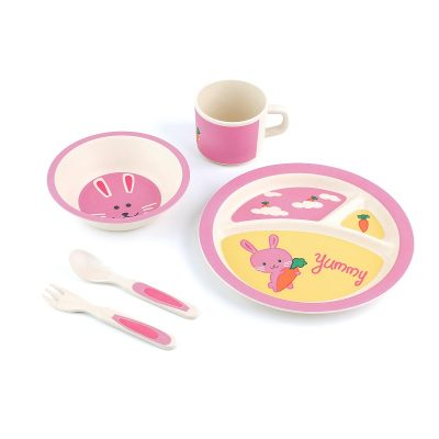 Peterson Housewares: Yummy Bunny -5pcs Kids Dinnerware Set