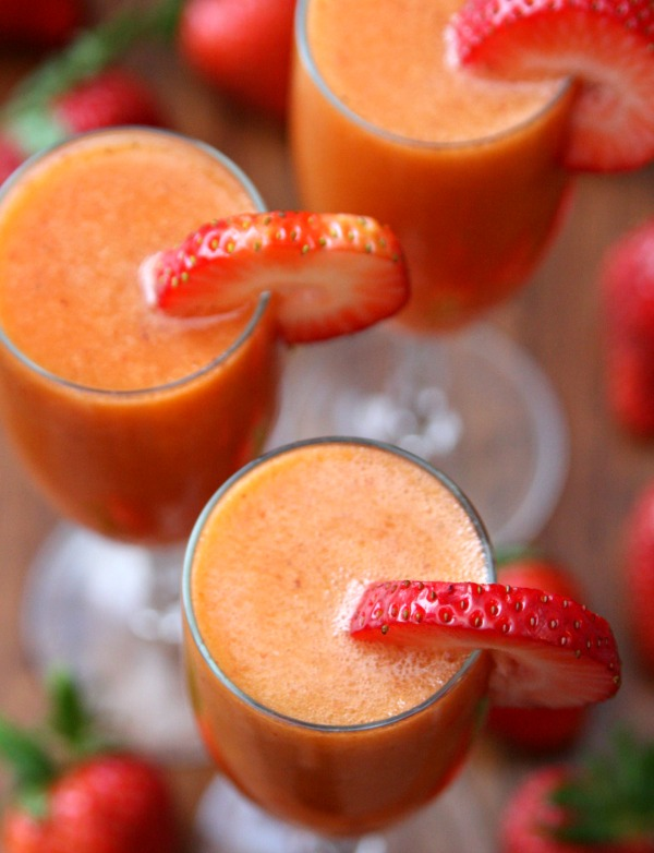 Strawberry Mango Mimosas