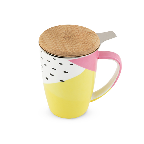 TRUE Brands: Bailey Ceramic Tea: Mug & Infuser
