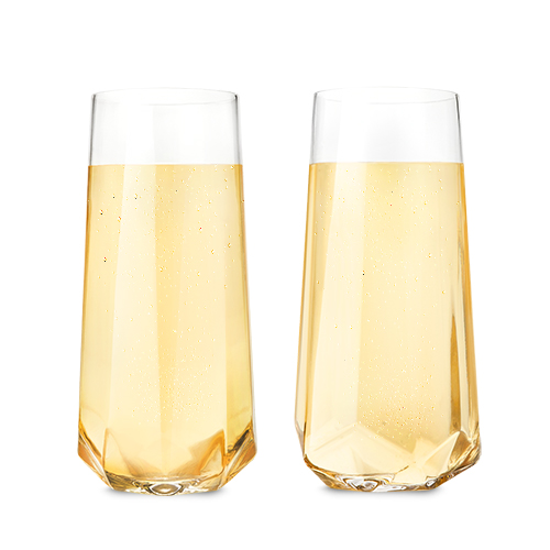TRUE Brands: Raye Faceted Crystal Champagne Glass