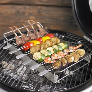 Rosle: Grilling Kabob Rack with Skewers