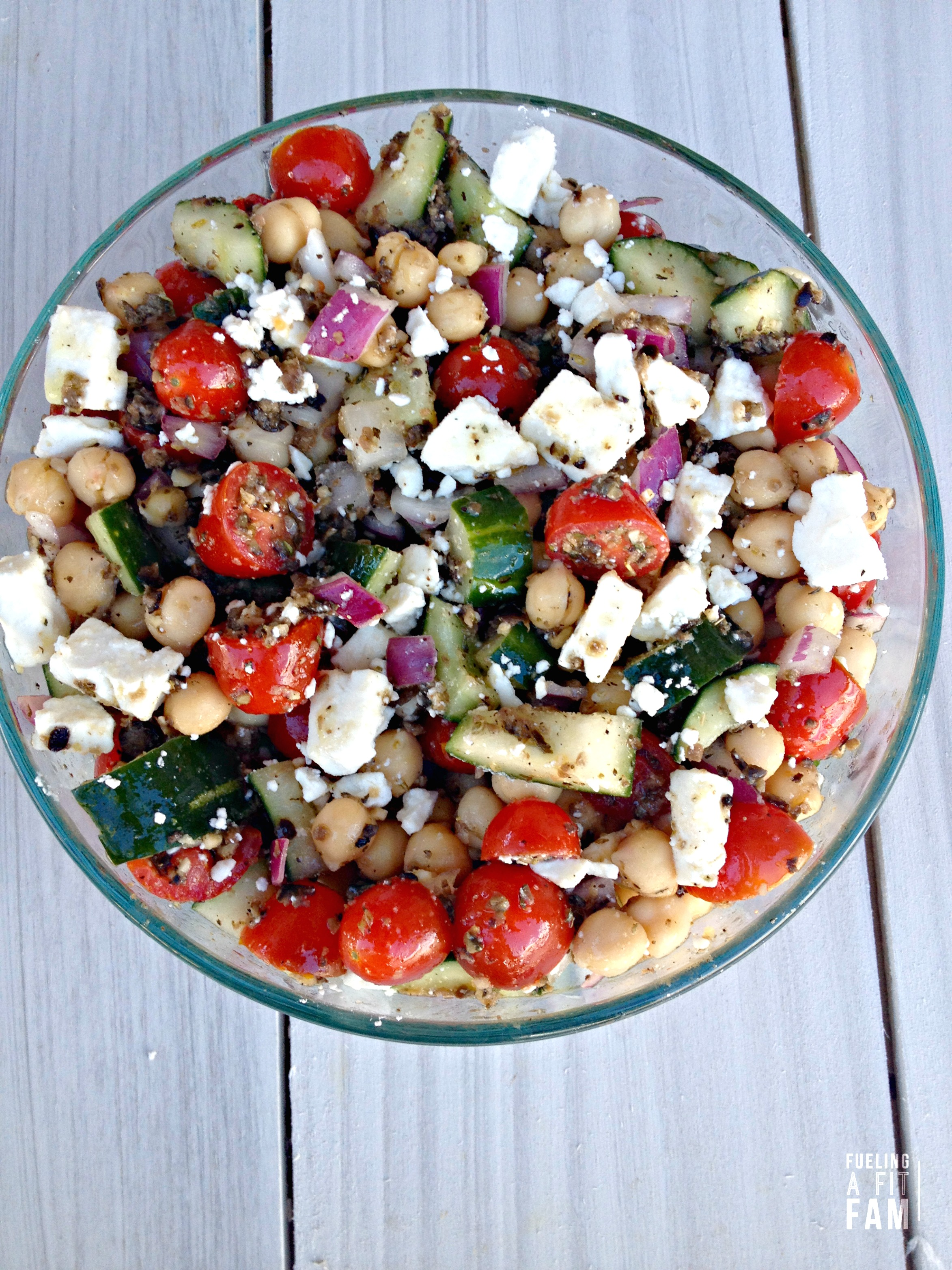 Greek Garnazo Bean Salad