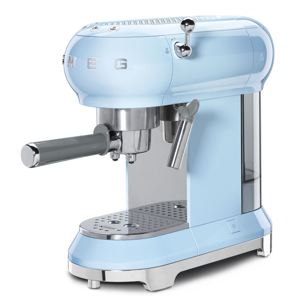 Smeg: Espresso Coffee Machine Pastel blue