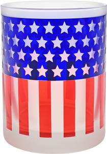 Culver: Frosted Flag Glasses